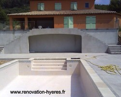OLIVIER SCHULLER - Hyères -  revêtement piscine et plage