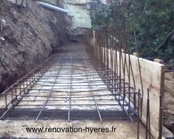 OLIVIER SCHULLER - Hyères - structure béton armé mur de soutènement