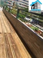 jardinière et terrasse bois